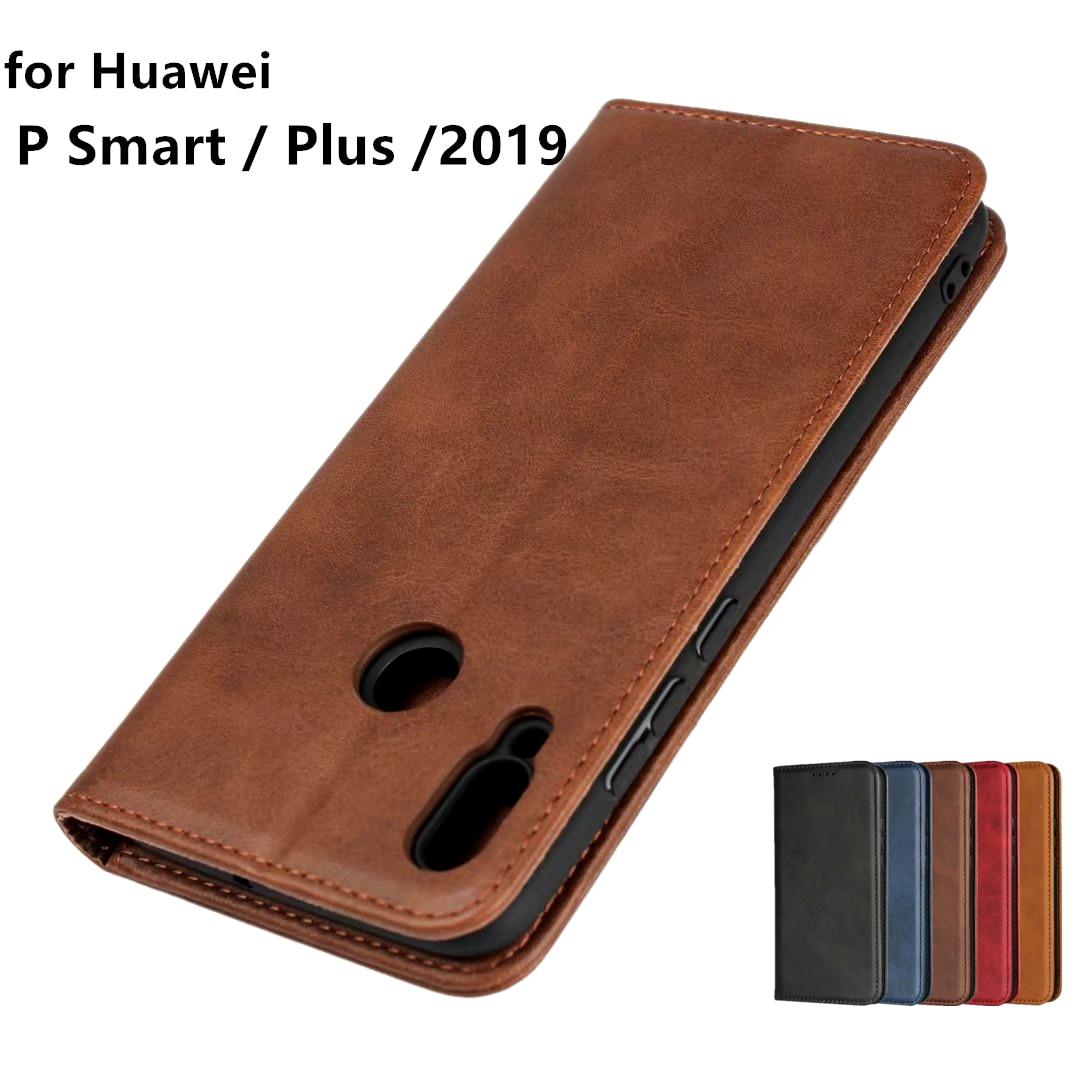 Leather case for Huawei P Smart 2019 PSmart P Smart Flip case card holder Holster Magnetic attraction Cover Wallet Case