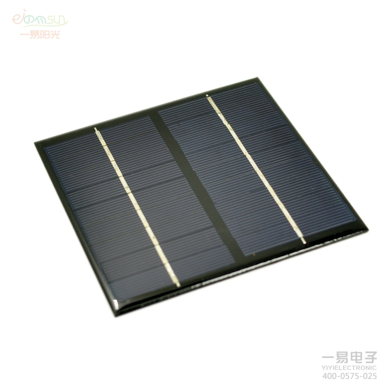 Mini 9V2W Solar Power Panel Bank DIY Home Solar System For Battery Cell Phone Chargers Portable Solar Panel polysilicon115*115mm