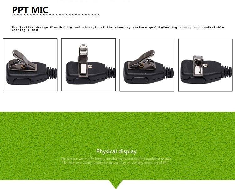 3,5 мм 2 контакта K-Type Walkie Talkie динамик акустика Clear трубка наушники для Baofeng uv-5r bf-888s вкладыши два радио гарнитура