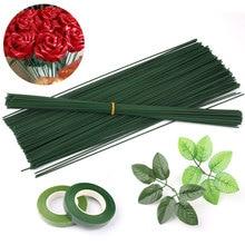 Materiał ekranu DIY nr 2 zielony kwiat średnica pręt pręt różany kwiat kalmary klej worek zielony przewód gałąź liście