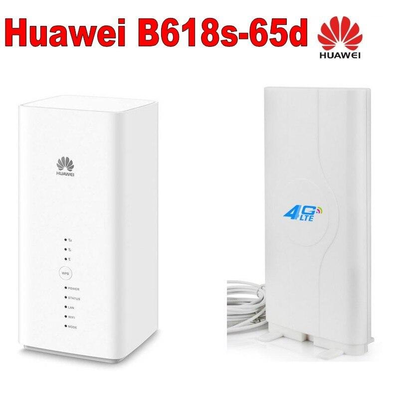 Conjunto de Huawei B618s-65d LTE Cat11 Gateway inalámbrico + 4g antena