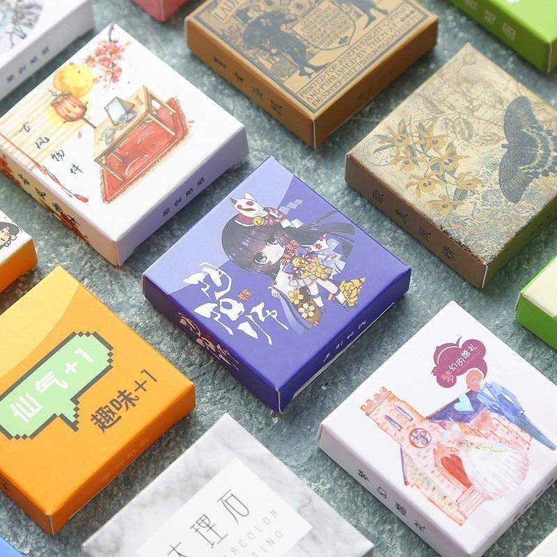 40 unids/caja pegatina de papel para decoración de mármol de Color bonito pegatina para álbum DIY álbum de recortes pegatinas sello papelería regalo Material Escol