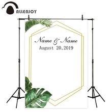 Allenjoy fundo fotografico backdrop summer forest golden frame simple wedding custom photocall photozone background for photos