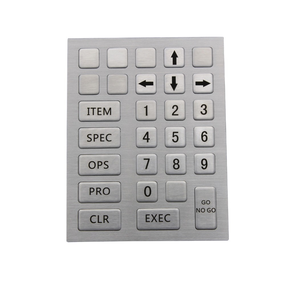 IP65 Kiosk Metall Robuste Tastatur Mit 28 Tasten Edelstahl Industrie USB Tastatur Benutzerdefinierte Kiosk Tastatur