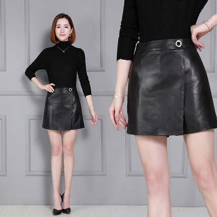 Autumn and Winter New Leather Shorts KS50