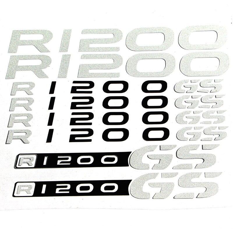 Para BMW R1200GS R 1200 GS, LOGO reflectante de rectificación para motocicleta fijado con carenado