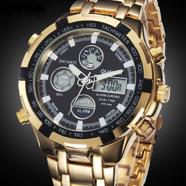 Military Watches Men Luxury Brand Full Steel Watch Sports Quartz Multi-function LED Waterpoof Gold Wristwatch Relogio Masculino ots luxury brand watch men business casual quartz watch full steel military sports watches relogio masculino men s wristwatches