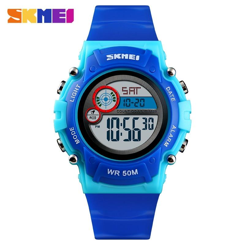 SKMEI New Kids  Sports Outdoor Clock Student Digital Watches Alarm Clock Stopwatch Waterproof Function Watches 1477