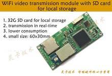 Linkardwell cctv 2.4G AV émetteur-récepteur vidéo/Audio FPV module Drone sans fil avec carte SD CVBS vers WiFi