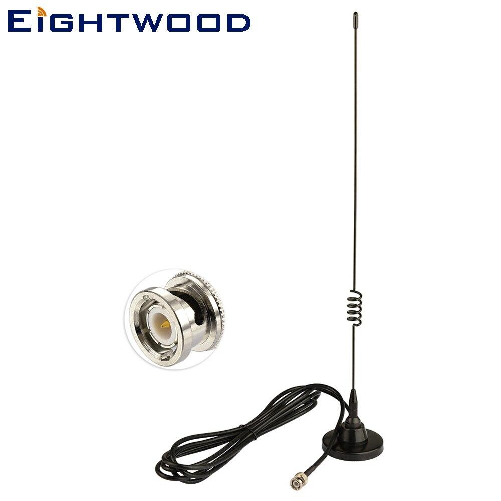 Antena de escáner de radioaficionado de mano eitwood BNC macho 136-174MHZ 400-470MHZ antena Base magnética de doble banda para Uniden BC75XLT