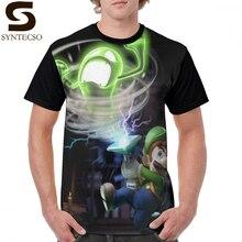 Luigi Mansion T Shirt Luigi T-Shirt Streetwear Short Sleeves Graphic Tee Shirt Funny 100 Percent Polyester Print Mens Tshirt