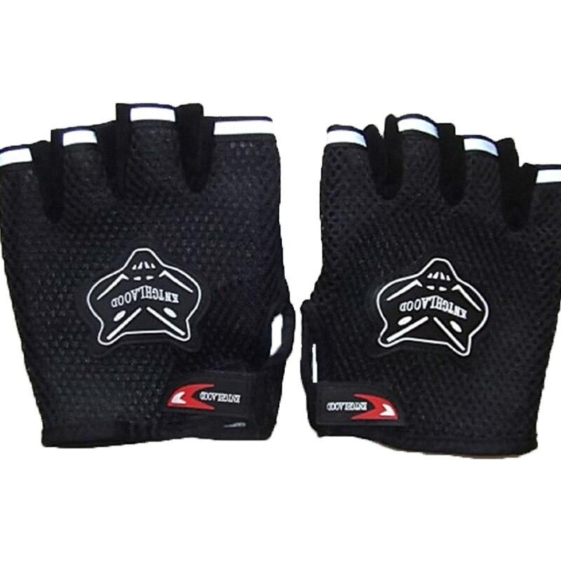 Los hombres y las mujeres gimnasio de levantamiento de pesas guantes deportes guantes de entrenamiento ejercicio edificio del Cuerpo Barra de fitness empuñaduras de Crossfit entrenamiento negro