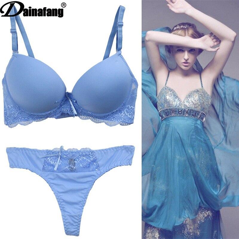 Dainafang marca nova womens lingerie bcde cup sexy sutiãs conjuntos de luxo rendas bordado push up senhoras roupa interior conjunto calcinha