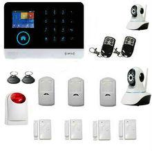 Yobang 보안 2.4 인치 무선 와이파이 gsm 경보 시스템 터치 키패드 ios 안드로이드 app 제어 홈 보안