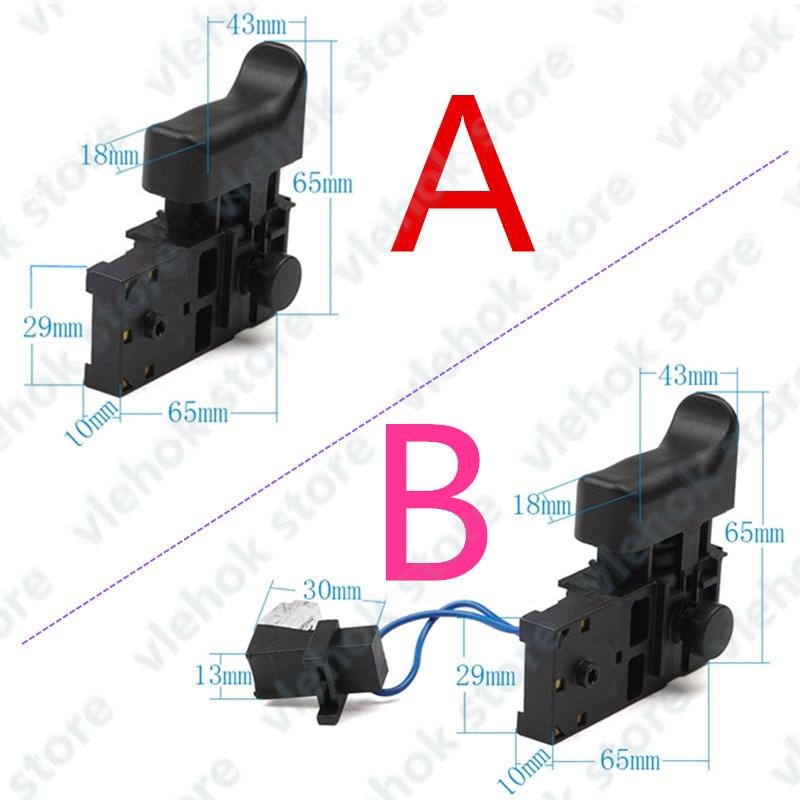 Switch With LED 650588-6 replace for MAKITA DS4010 HR2470T HR2470CAP HR2470A HR2470 HR2460 HR2230 HR2470FT HR2230DFX tools part