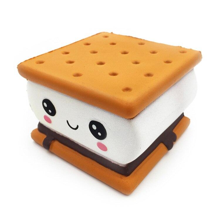Kawaii торт бисквитный хлеб для мягких медленно растущих игрушек шоколадная сжимаемая игрушка гигантская сжимаемая игрушка для детей шнурок в подарок телефонные ремни