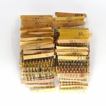 500 PCS/LOT 50 Valeurs Chaque 10 pièces 1/2 W 0.5 W 5% Tolérance Résistances à Couche de Carbone Assortis Assortiment Kit 1.2 ohm-1M ohm