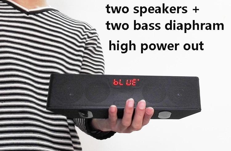 Venta al por mayor, barra de sonido estéreo HIFI de alta potencia altavoz inalámbrico portátil con bluetooth, subwoofer de radio TF FM para teléfono, pc y mp3