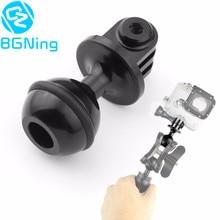 CNC 360 degrés Rotation rotule tête trépied montage 2.5CM cardan stabilisateur support pour Gopro Hero 5 4 Yi SJCam GitUp caméras daction