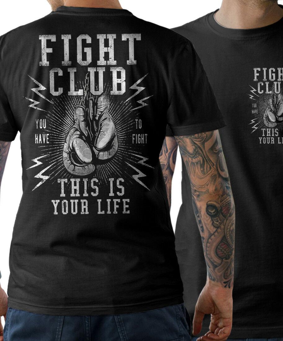 Camiseta luta clube mma boxe boxen boxen ginásio thai duplo lado verão o-pescoço imprimir moda magro manga curta o pescoço t camisa