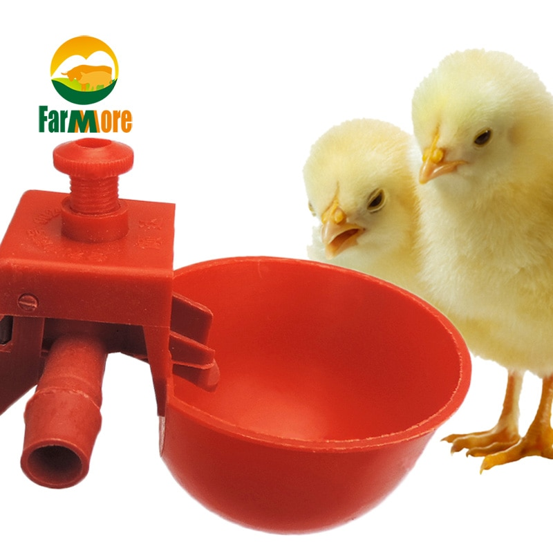 10Set Chicken Waterer Hens Quail Birds Drinking Bowls Water for Chicken Coop Chick Nipple Drinkers P