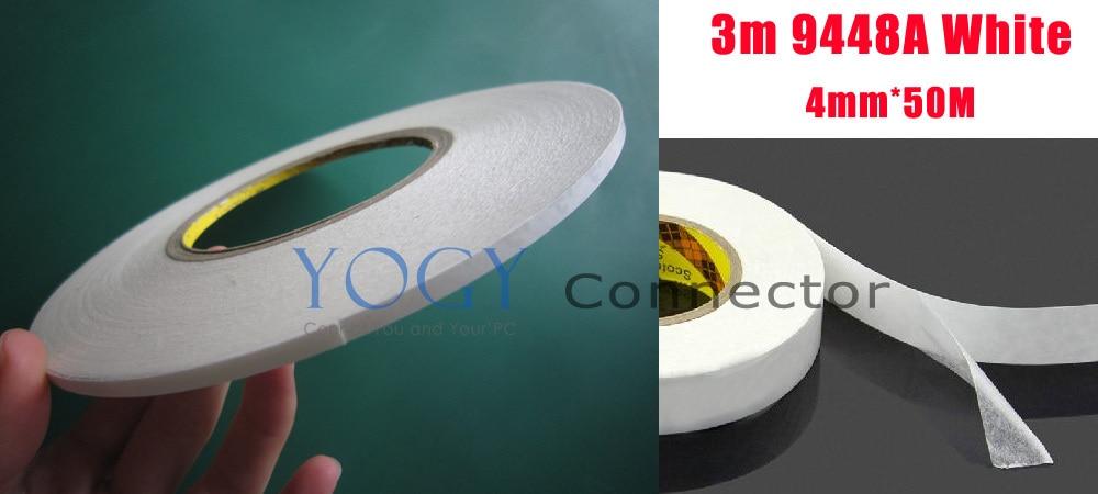 10x4 milímetros 3M 9448A Branco Duplo Faces Fita Pegajosa por LCD Branco tela de LED comum