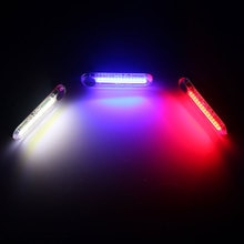 LED Rechargeable par USB vélo feu arrière feu arrière comète sécurité vélo feu arrière lampe davertissement vtt cyclisme rétro-éclairage lanterne