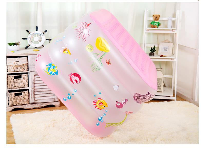 Портативный детский бассейн, Надувная Детская ванна 125x75 см, детская мини-площадка, экологически чистый пруд из ПВХ, Детские праздничные под...