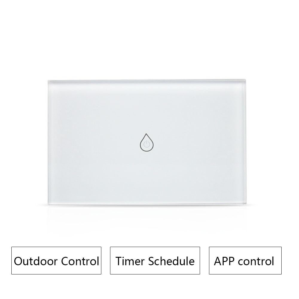 Interrupteur chauffe-eau Wifi intelligent   Interrupteur de chaudière, minuterie standard américaine, télécommande extérieure, Alexa Google Home