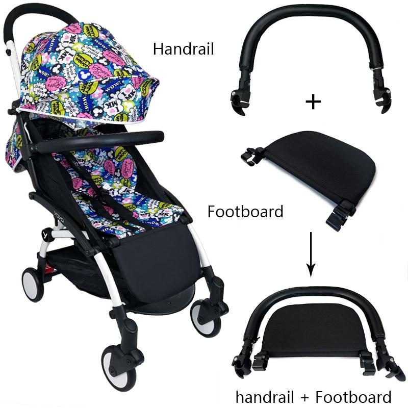 مسند قدم جلدي لعربة الأطفال ، ملحقات عربة الأطفال ، متوافق مع Yoyo Yoya YuYu YuYu ، مسند ذراع عربة الأطفال