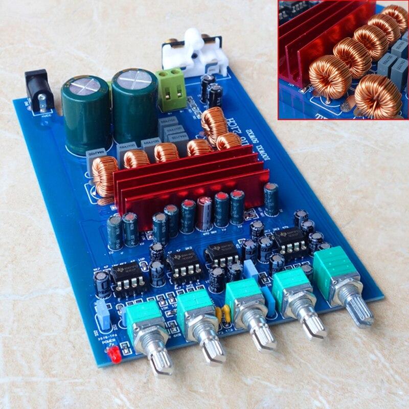 K GUSS TPA3116D2 NE5532 * 4 2,1 de AUDIO de alta fidelidad, amplificador Digital de 50W * 2 + 100 W/Subwoofer DC24V