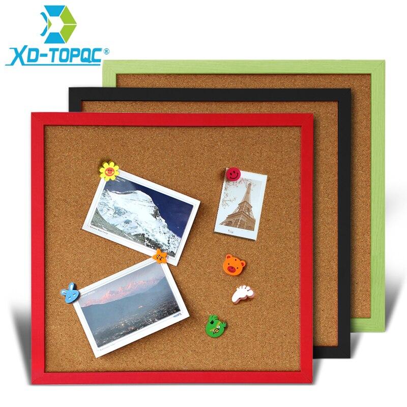35*35 см пробковая доска, доска объявлений, деревянная рамка, штырьковая доска для записей, разноцветная декоративная доска 11 цветов