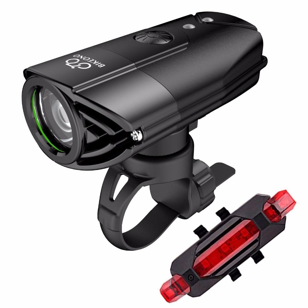 BIKEONO-أضواء الدراجة الهوائية ، الأمامي LED و الخلفي, 1200 لومن ، قابل للشحن USB ، مصباح MTB عند ركوب الدراجة الهوائية