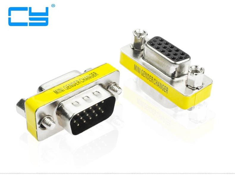 10 Uds adaptador HD15Pin VGA D-Sub-Adaptador de Video de Curta vga Macho...