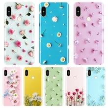 Rose Pink Phone Case For Pocophone F1 Xiaomi Redmi Note 6 Pro 5A Prime 5 4 4X Soft Silicone Back Cover For Redmi S2 6A 5 Plus 4A