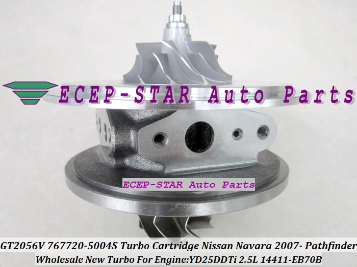Envío Gratis Turbo CHRA núcleo de cartucho GT2056V 767720, 767720-5004S 14411-EB70B para Nissan Pathfinder y Navara YD25 YD25DDTi 2.5L