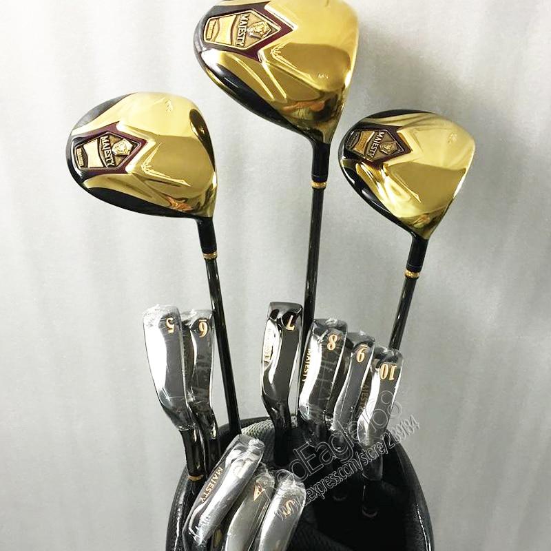 Cooyute nuevo mens Palos de golf Maruman Majestad super7 Compelete club de conductor + madera + planchas grafito mango de golf envío gratis