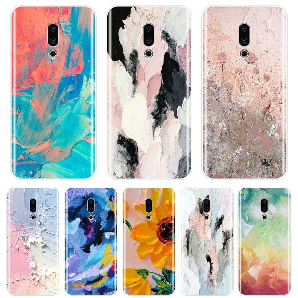 Funda trasera para Meizu U10 U20 Pro 6 7 Plus, carcasa de teléfono de silicona blanda con grafiti abstracto artístico para Meizu 15 Lite 16 Plus 16th 16x