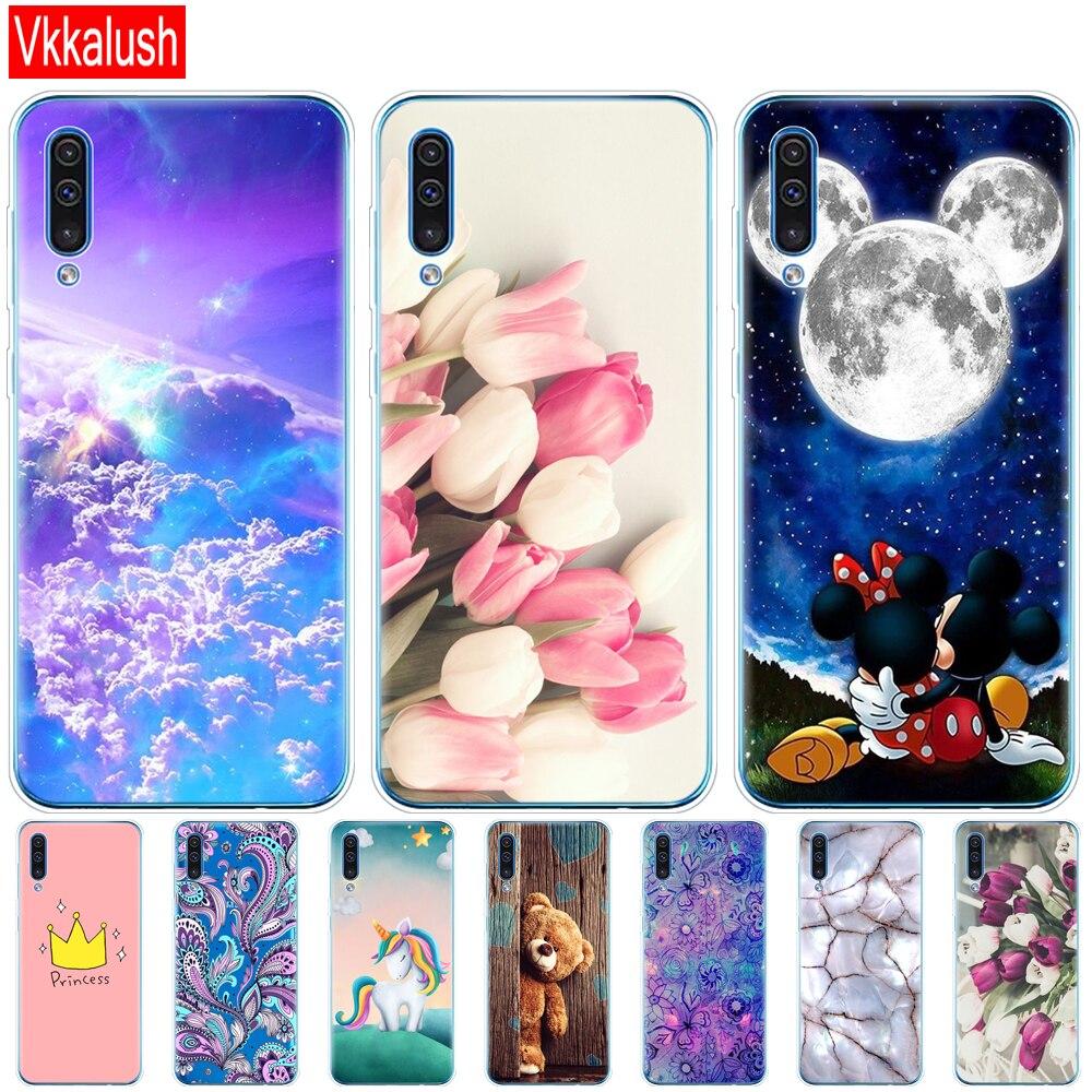 Carcasa de silicona transparente para Samsung Galaxy A50, carcasa de teléfono para Samsung a50, A505, A505F, SM-A505F, carcasa blanda 6,4
