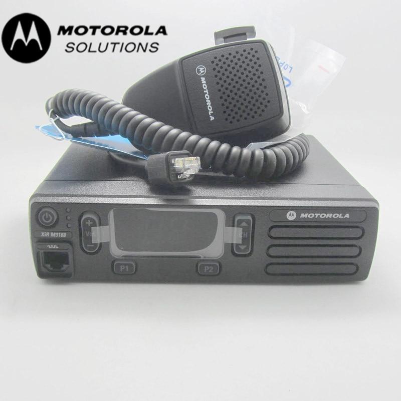 Kosten-effektive 25 watt lange palette Motorola XIRM3188/DEM300/CM200d/DM1400 walkie talkie auto radio vhf /uhf analog/digital mobile radio