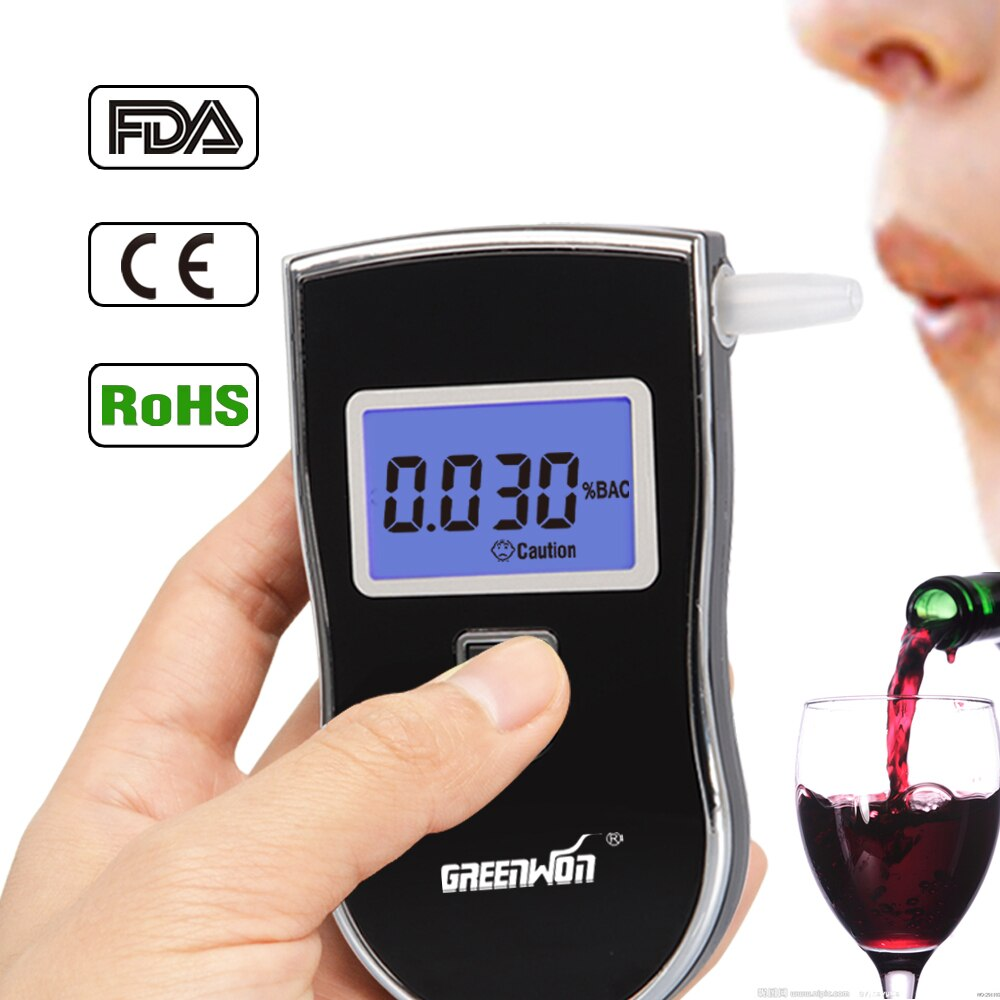 2019 greenwon الكوتستر الرقمية التنفس الكحول كاشف الأدوات المهنية الكحول المحمولة جهاز اختبار شرب الكحوليات