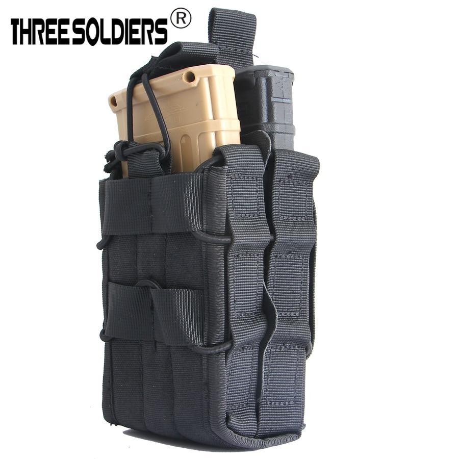 DREI SOLDATEN M4 5,56 doppel Molle Open Top magazin pouch Taktische Kampf Jagd Utility Dump Tropfen Tasche Tasche taille gürtel beutel