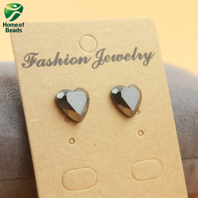 2020 New Cute Love Heart Shape Strong Magnetic Hematite Stud Earrgings Beneficial to Health Lose Wei