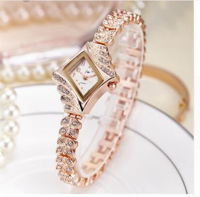 2019 JW Top Brand Women Bracelet Watches Luxury Rhinestone Gold Dress Watch Women Fashion Casual All