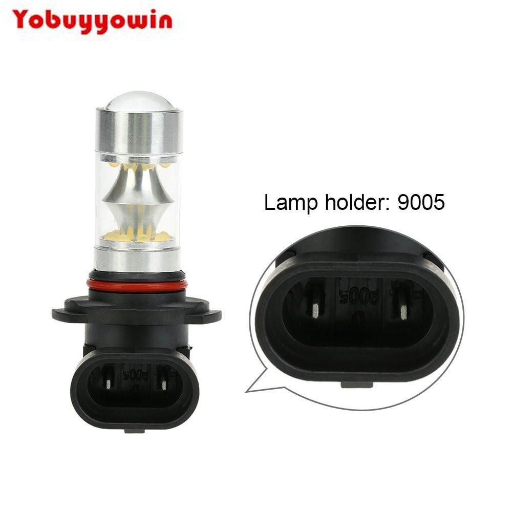 100 Вт 12В-24В 9005 HB3 P20D 9006 HB4 H10 H8 H11 20 * Светодиодный 2200lm 6500K Phare de Voiture Antibrouillard Ampoule