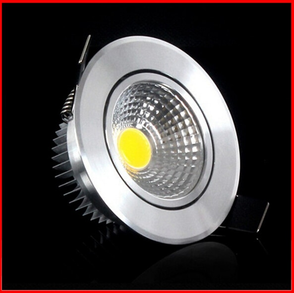 1 Uds. ac110v 220v luz Led descendente regulable COB foco de techo 3w 5w 7w 9w luces empotrables de techo iluminación interior