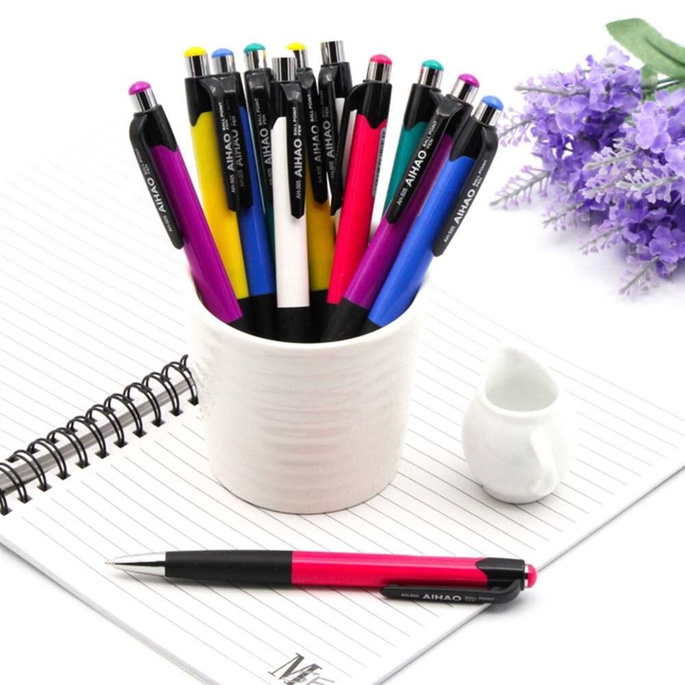 12 Stks/set Blue Balpen Kawaii 0.7mm Blauw Briefpapier Pen Voor Kinderen Kantoor Schoolbenodigdheden Estojo Escolar