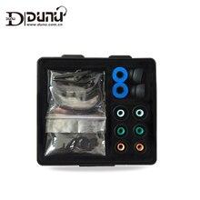 DUNU boîte daccessoires dorigine comprend des embouts en mousse silicone embouts doreille crochet doreille pour DNUN écouteurs TITAN 3/5 DN-2000/DN200J/3001