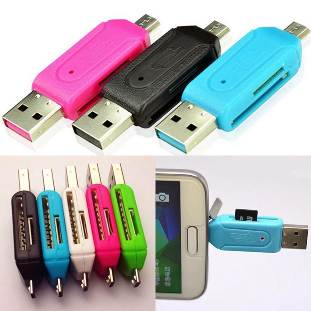1 piezas Micro USB OTG TF T-flash lector de tarjetas Universal lector...