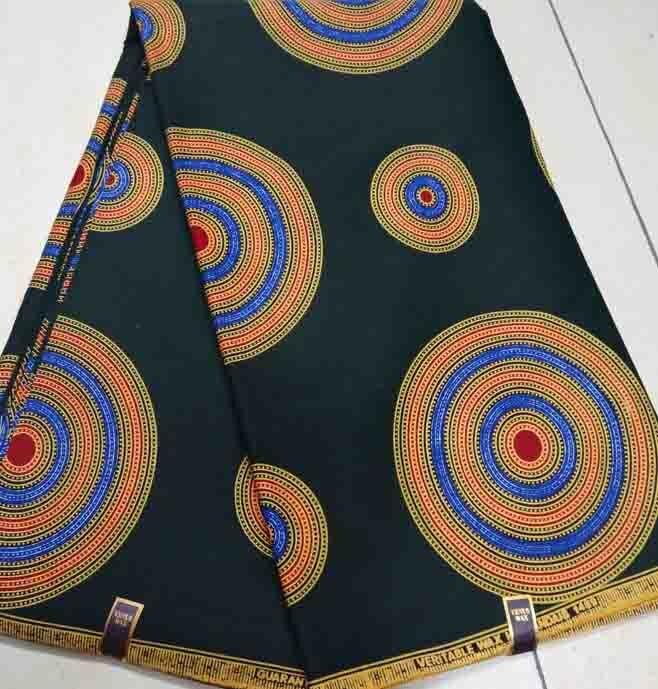 border wax fabric quality wax fabrics newest border printed fabric DIY patchwork real wax printing Batik fabrics by green round